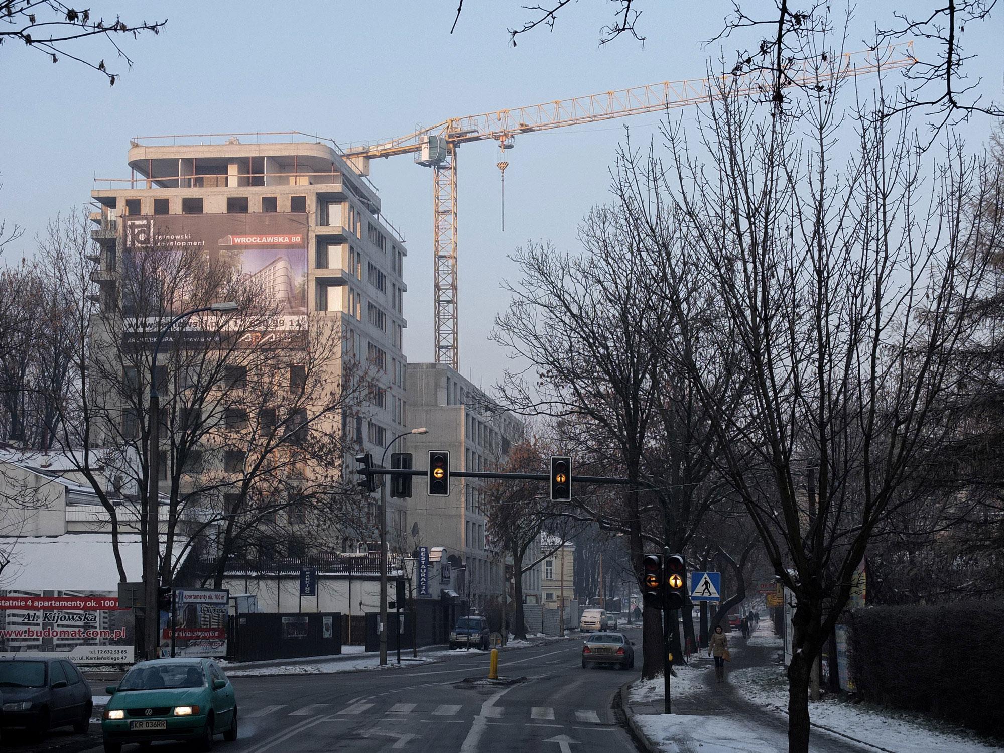 Architekci APA Zalewski Bubak - Budowa budynku mieszkalnego Wrocławska 80