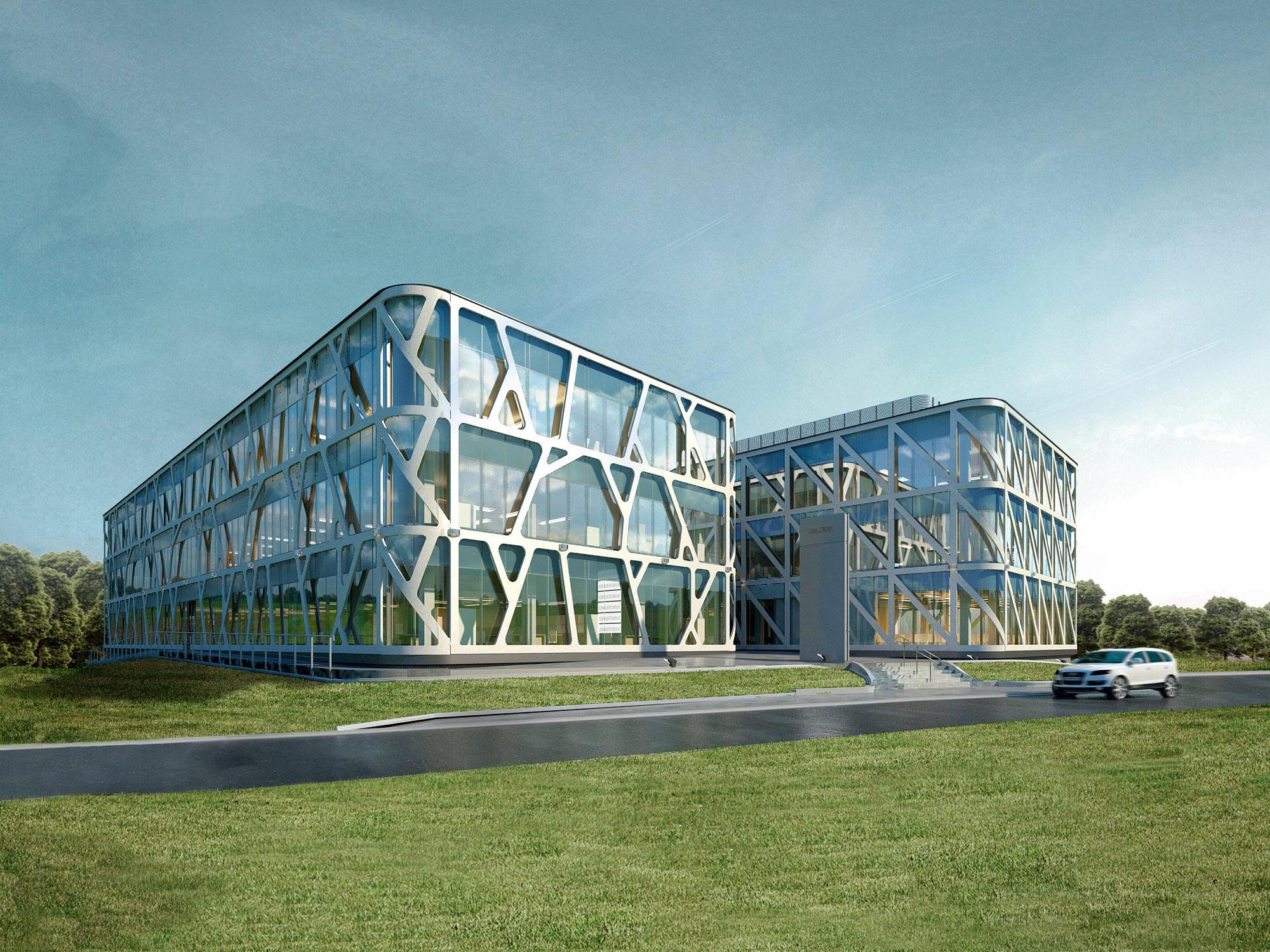 Architekci APA Zalewski Bubak- Projekt biurowca Consultronix